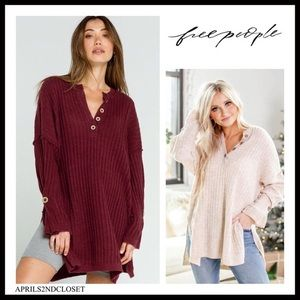 FREE PEOPLE BOHO FLOWY PULLOVER TUNIC TOP A3C